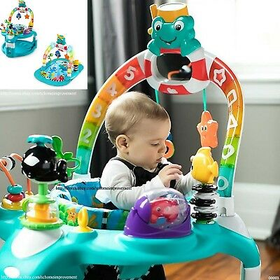 Lights & Sea Activity Gym & Saucer 2-in-1 Fun Adorable Play Space for Little One