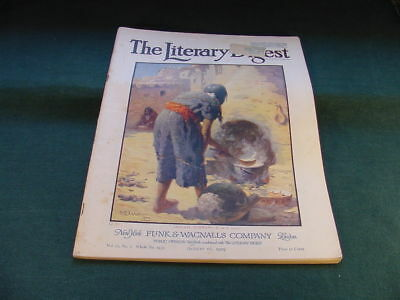 Aug 16 1919 The Literary Digest Magazine W R Leigh Cover Art Indian Woman