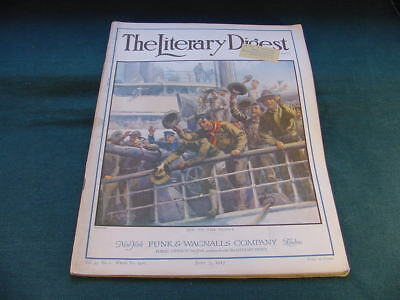 July 7 1917 The Literary Digest Magazine L A Shafer Cover Art Off To The Front
