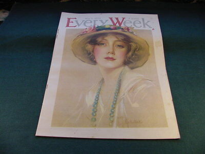 May 4 1918 Every Week Complete Magazine Girl In Hat Illustration Art Cover