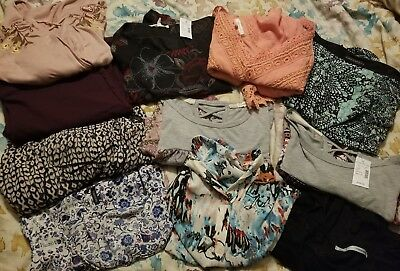 Womens Lot of clothing Large L and M 12 pieces. Trendy sexy! Maurices some nwt