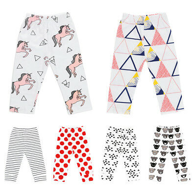 Toddler Baby Girls Cartoon Long Pants PP Diaper Cover Bottoms Cotton Trousers