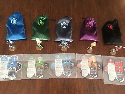 HeroScape Crest of the Valkyrie Complete Set all 5 Flag Bearers Amazing Cond.
