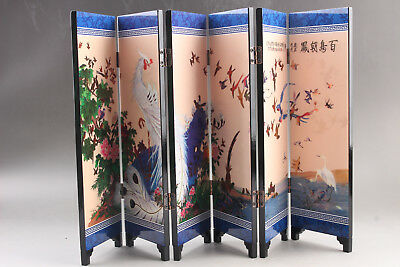 Ancient Chinese Good Chinese Painting bird  Screen Scroll  ar110