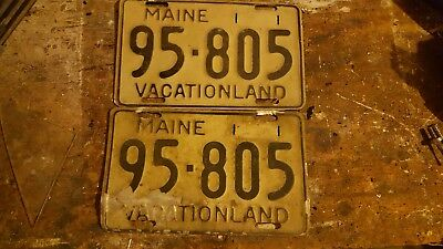 Maine 1950-1955 Base License Plates/pair