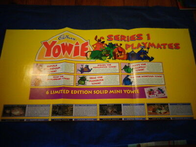 Yowie Yowies, * POSTER * CADBURY YOWIES SERIES 1 PLAYMATES * FULL SIZE POSTER