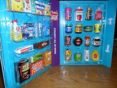 Coles little shop FULL SET of 30 MINI COLLECTABLES IN CASE