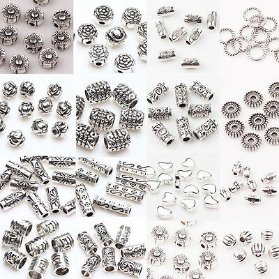50/100PCS Charm Antique Tibetan Silver Loose Spacer Beads Jewelry Making DIY