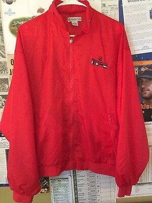 Holland America Cruise Line Red Zip-Front Long Sleeve Jacket w/Hoodie Pouch S