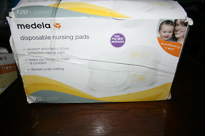 SEALED Medela Disposable Nursing Bra Pads, 120 Count