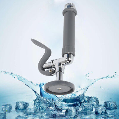 """Commercial Kitchen Tap Pre-Rinse Spray Head Valve Faucet With Ring 1.42GPM G1/2"""""""