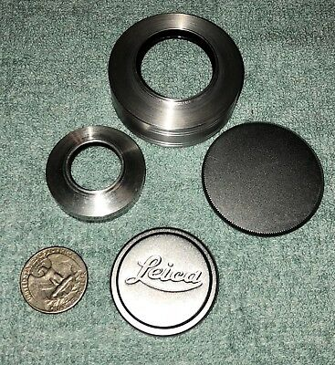 Vintage Leica Lens Cap and Cover W Extras Collectors Estate