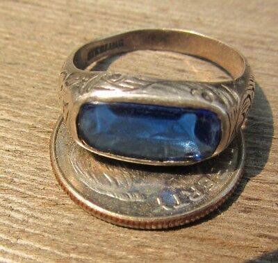 Rare Cool Vintage Antique Chinese Export Sterling Silver Saddle Ring Size 5.25