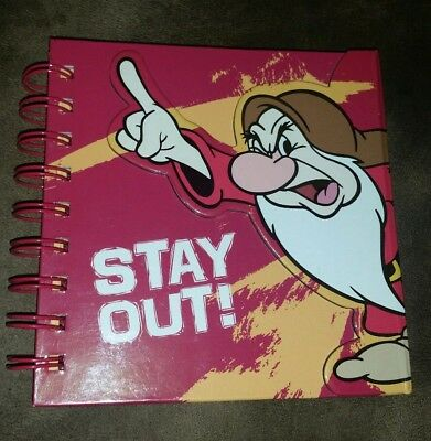 "Disney Parks Grumpy Notebook Disneyland Dwarfs Journal ""Stay Out"" New"