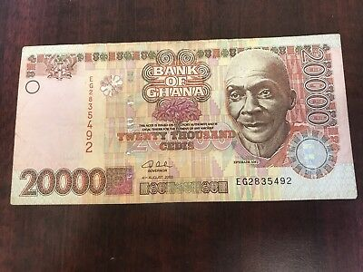 2003 Ghana 20000 Cedis world paper money Great condition high value