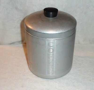 Vintage Brushed Aluminum Coffee Kitchen Canister