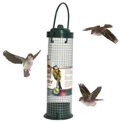 1PC 29cm Hanging Wild Bird Peanut Seed Nut Feeder Hanger Standing Feeding Sation