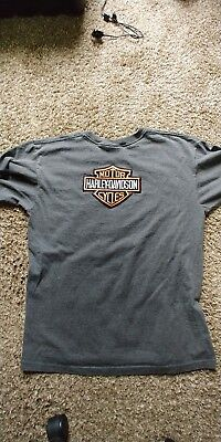harley davidson mens t shirts size large (((( HEAVY MATERIAL))))