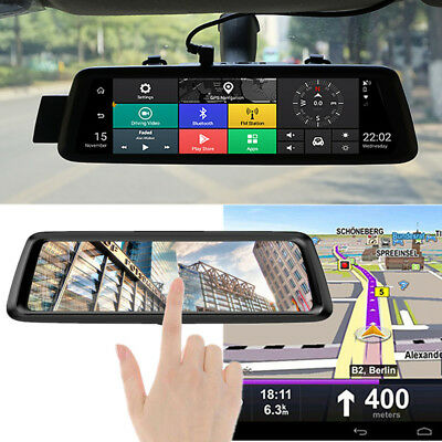 "10"" 1080P Android GPS Navigation Car DVR Camera Recorder ADAS 4G WiFi BT Freemap"