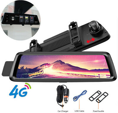 10in Full HD Car DVR Camera 4G Android Security Recorder GPS Navi Dash Cam Wifi
