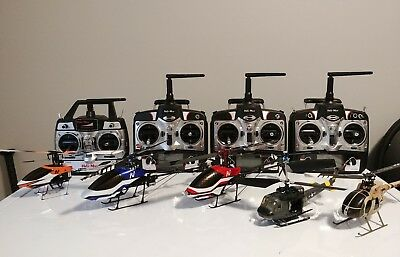 Heli-Max Novus CP and FP lot bundle RC Helicopters plus spare parts