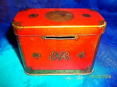 1936 1937 Rare Oxo Cube Coronation Treasure Chest Hrh King Edward Viii Tin Bank