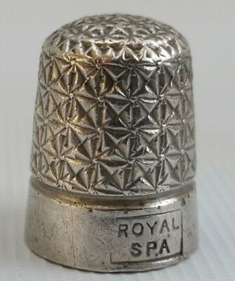 Vtg Royal Spa Sterling Solid Silver Henry Griffiths HG&S Thimble 1927  Sz 14