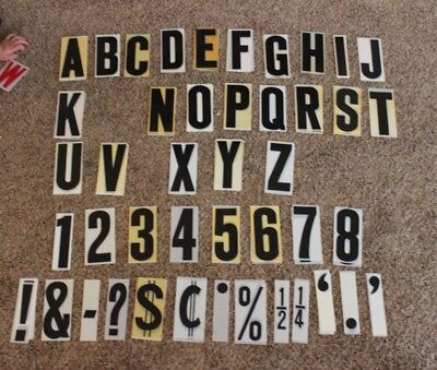 Reader Board Letters / Outdoors / Lot of 294 Misc. Letters/ Numbers/Symbols