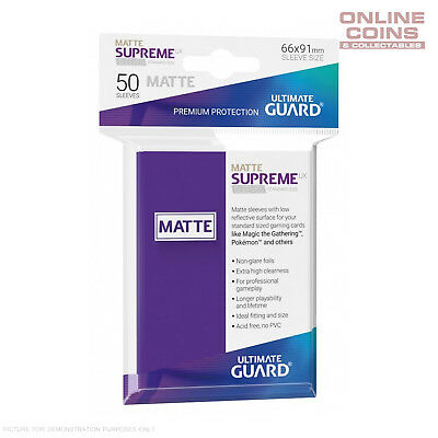 Ultimate Guard SUPREME UX MATTE Standard Card Sleeves - PURPLE - Pack of 50
