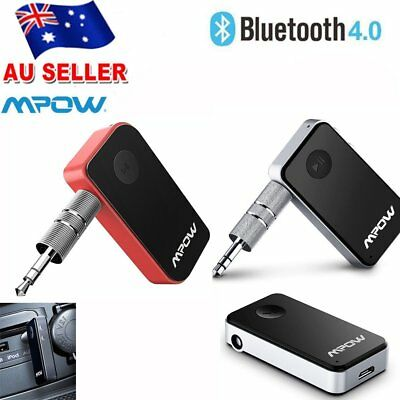 Mpow Wireless Bluetooth 3.5mm AUX Audio Stereo Music Home Car Receiver Adapter T