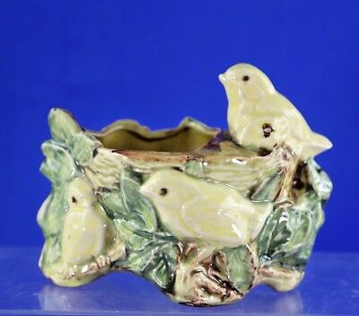 Antique Mccoy Pottery Chick And Leaf Planter