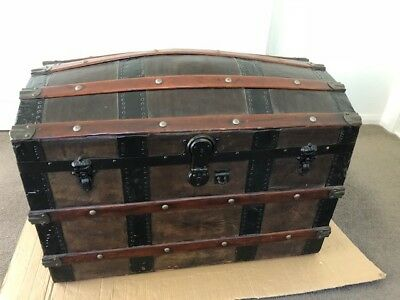 Antique Dome-Topped Large Trunk