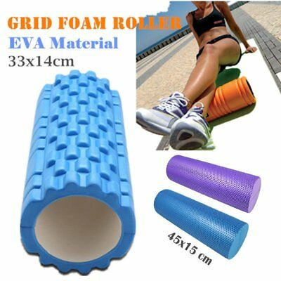 33CM Foam Roller Grid EVA Physio Pilates Yoga Gym Exercise Trigger Point Home BS