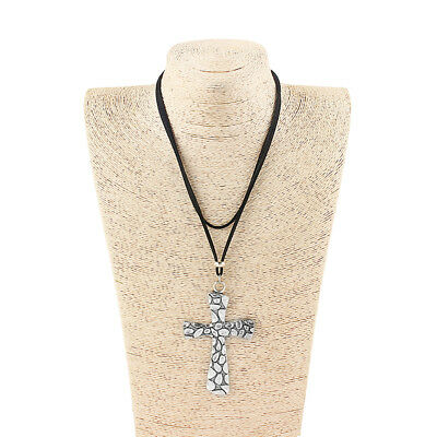 1Pcs Large Antique Silver Egyptian Ankh Cross Charms Pendants Necklace