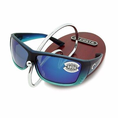 94004eea7ad NEW Costa Del Mar CAT CAY Matte Caribbean Fade   580 Blue Mirror Glass 580G