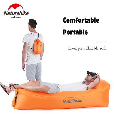 Portable Outdoor Inflatable Lazy Air Sofa Bed Lounger Couch Chair Camping Beach