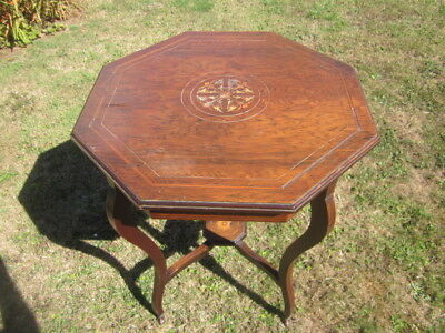 Antique Edwardian Type Two Tier Inlaid Table