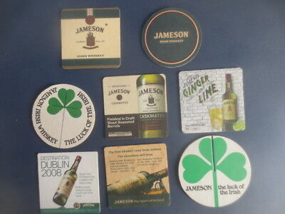 8 different JAMESON IRISH  WHISKY Coasters Collectable  Issues