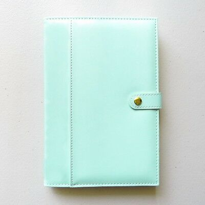 Mint A5 Lined Paper Notebook Journal Uni Notes Travel Removable Cover PU Leather