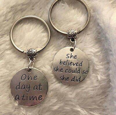 one day at a time / she believed she could DESTINATION SLIM positive keyring set