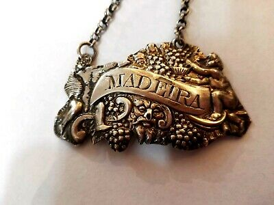 Antique Sterling Silver English George 111 Madeira Wine Label London 1809