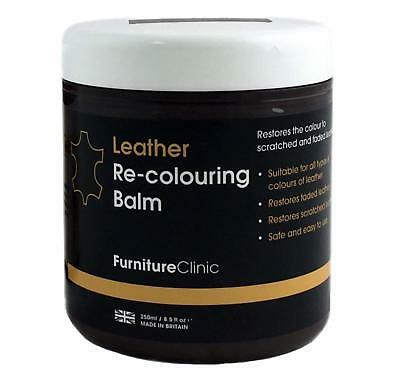 Furniture Clinic Leather Re-Coloring Balm Renew & Restore Color 250mL Dark Brown