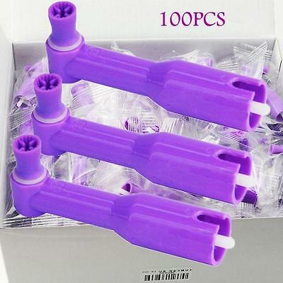 Purple New Dental Disposable Prophy Angles With Soft Cup Latex Free 100pcs/box
