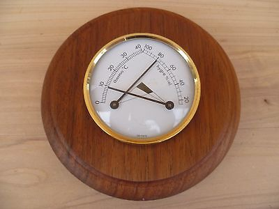 New Style Timber Backed German Ships Barometer- Instrument (E615)