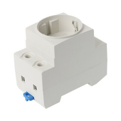 EU Type 35mm DIN Rail Mount AC Power Socket 16A 250V AC Connector
