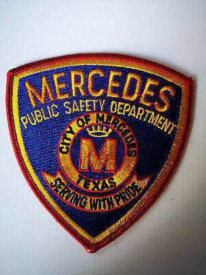 City of Mercedes Public Safety Department Texas Patch Abzeichen Ärmelabzeichen