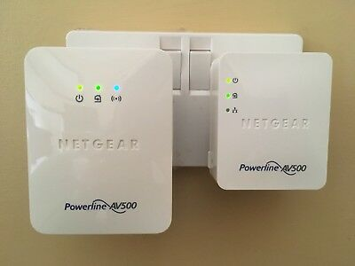 Used Powerline500 XWN5001 WiFi access point with 3 x AV500 adapters