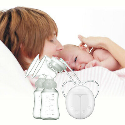 Electric Double Breast Pump Automatic Intelligent Baby Feeder w/USB Hand-Free Z9