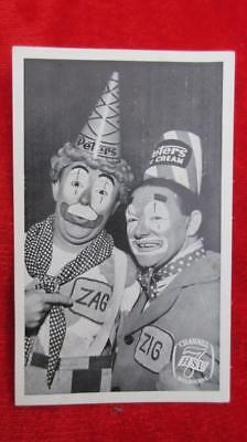 1960's Circa Zig and Zag HSV Channel 7 Melbourne Promotional/Giveaway Card.