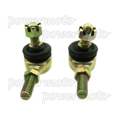 Pair 10mm Bolt Tie Rod Ends Ball Joiners For 110cc 125cc Quad ATV Go Kart Buggy